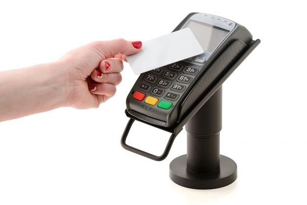 Pago con tarjeta sin contacto a través del terminal pos
