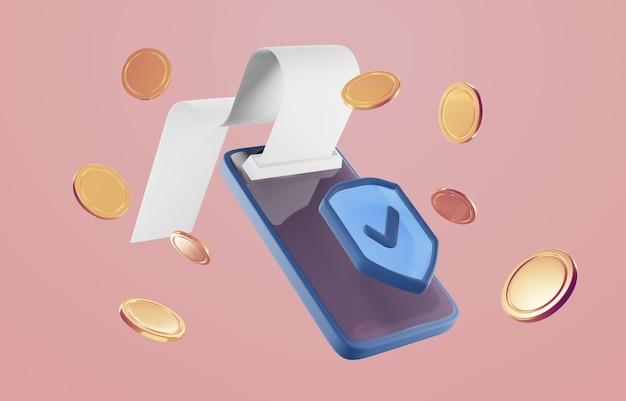 Pago a través del concepto de tarjeta de crédito. transacción segura de pago en línea con teléfono inteligente.