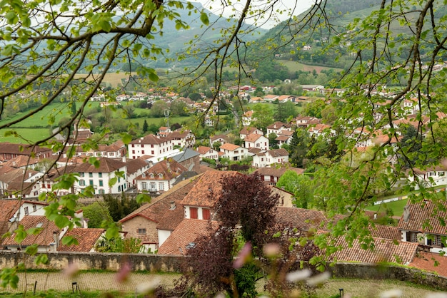 País vasco, saint jean pied de port en el sur de francia