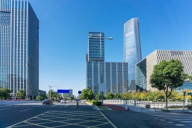 Paisaje arquitectónico de la ciudad moderna china