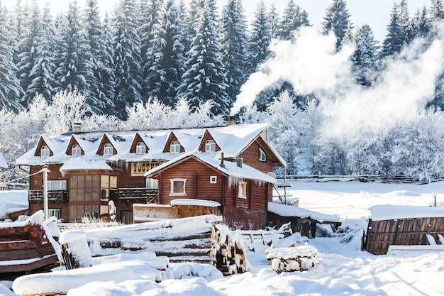 Paisaje arquitectónico de invierno