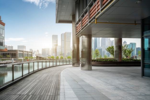 Paisaje arquitectónico moderno de lujiazui, shanghai