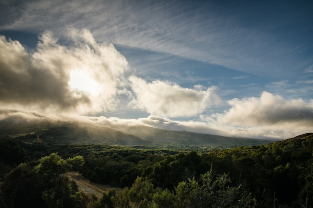 Paisaje de cielo nublado