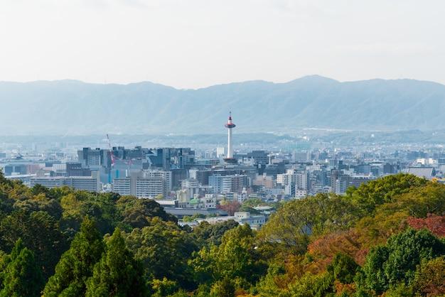 Paisaje de la ciudad de kyoto japón