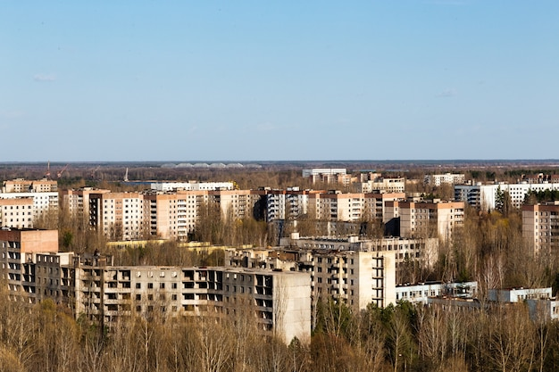 Paisaje de la ciudad de pripyat