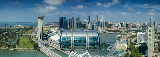 Paisaje de la ciudad de singapur para el volante de singapur