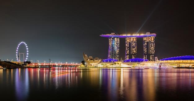Paisaje de la ciudad de singapur