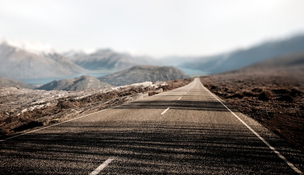 Paisaje contry road travel destino concepto rural