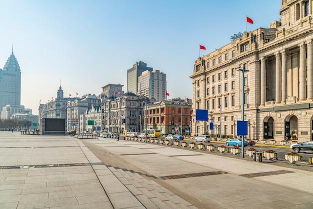 Paisaje de edificio antiguo del bund de shanghai