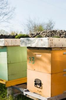 Paisaje granja de miel