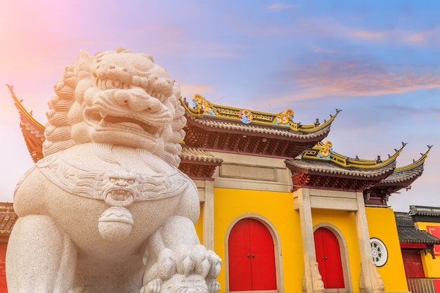 Paisaje hermosa tradición oriental puesta de sol