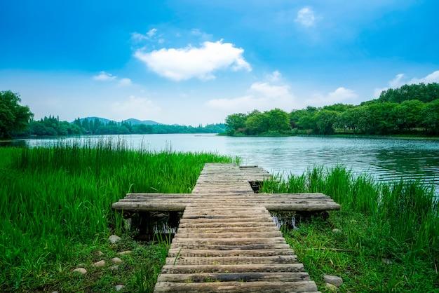 Paisaje de maojiabu, west lake, hangzhou