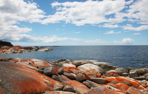 Paisaje mar y rocas
