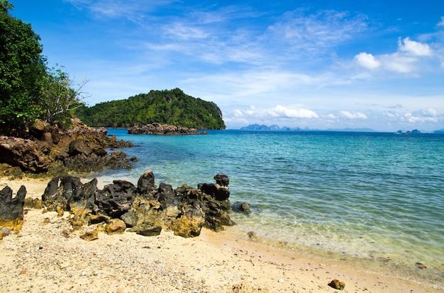 Paisaje de mar tropical