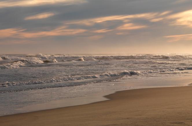 Paisaje marino a lo largo de la costa en the hamptons, nueva york