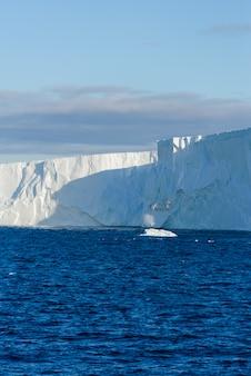 Paisaje marino antártico con iceberg