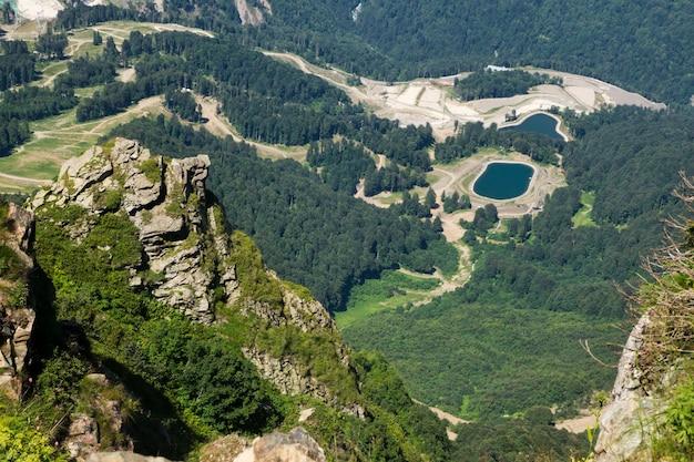 Paisaje de montaña en verano fondo de pantalla de naturaleza hermosa