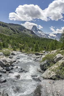 Paisaje de montaña en zermatt, suiza