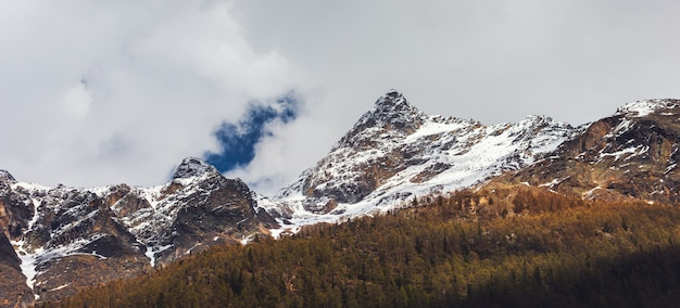 Paisaje natural paisaje de la cordillera de los alpes, suiza.