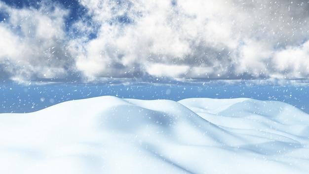 Paisaje nevado 3d