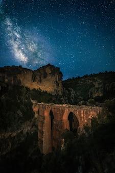 Paisaje nocturno. romano antiguo