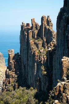 Paisaje de la península de tasmania, tasmania, australia