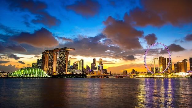 Paisaje de singapur.
