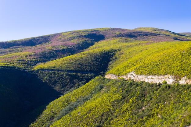 Paisaje sudafricano a lo largo de la carretera de karoo a franschhoek.
