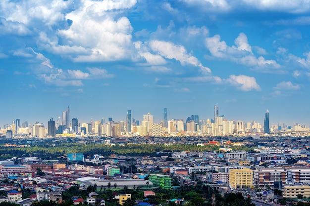 Paisaje urbano en bangkok, tailandia.