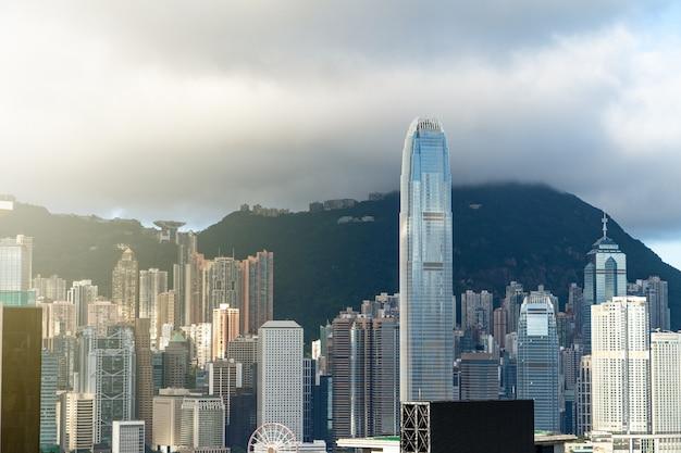 Paisaje urbano de la ciudad de hong kong