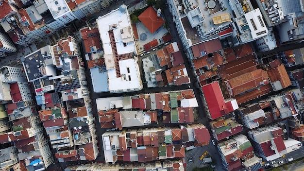 Paisaje urbano de estambul, turquía. foto a vista de pájaro