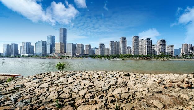 Paisaje urbano de fuzhou, china