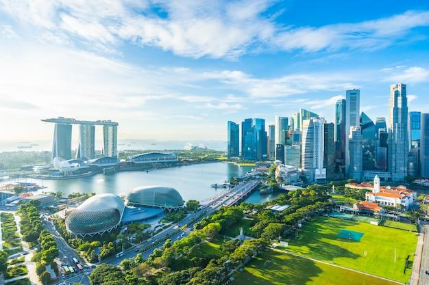 Paisaje urbano en el horizonte de la ciudad de singapur
