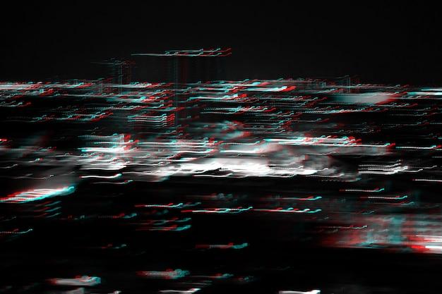 Paisaje urbano de iluminación abstracta error de interferencia de ruido