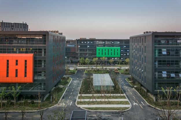 Paisaje urbano moderno en jiaxing, china