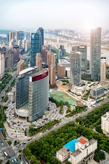 Paisaje urbano del nuevo distrito de nanchang, jiangxi, china