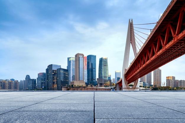 Paisaje urbano y rascacielos de chongqing
