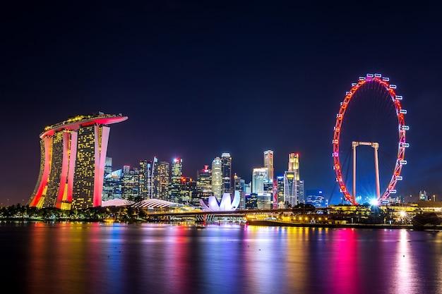 Paisaje urbano de singapur.
