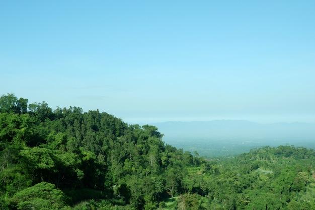 Paisaje de valle de montaña verde colina