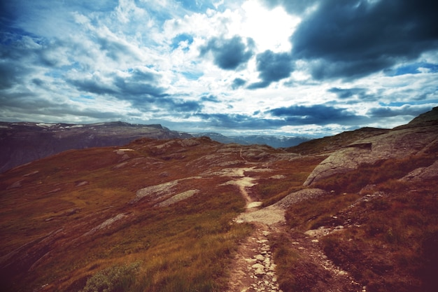 Paisajes pintorescos del norte de noruega