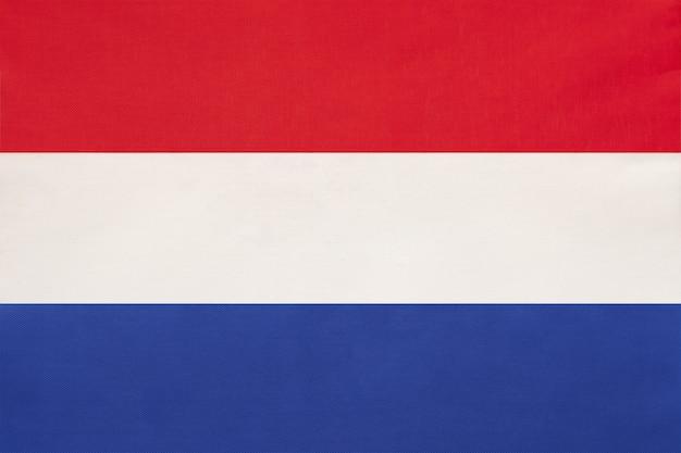 Países bajos tela nacional bandera textil