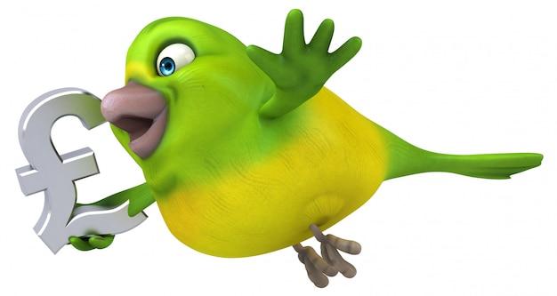 Pájaro divertido - ilustración 3d