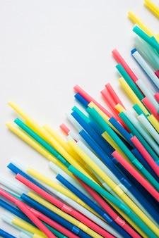 Pajitas plástico coloridas