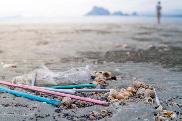 Pajitas de plástico desechables