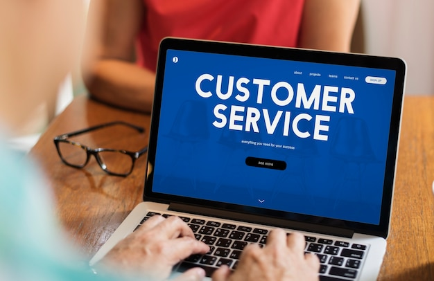 Palabra de interfaz de página web de atención al cliente