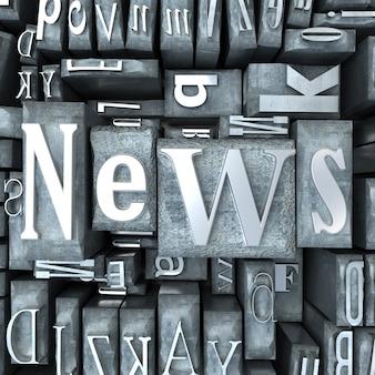 La palabra noticias escrita en mayúsculas y minúsculas