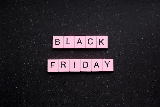 Palabra de viernes negro sobre fondo negro