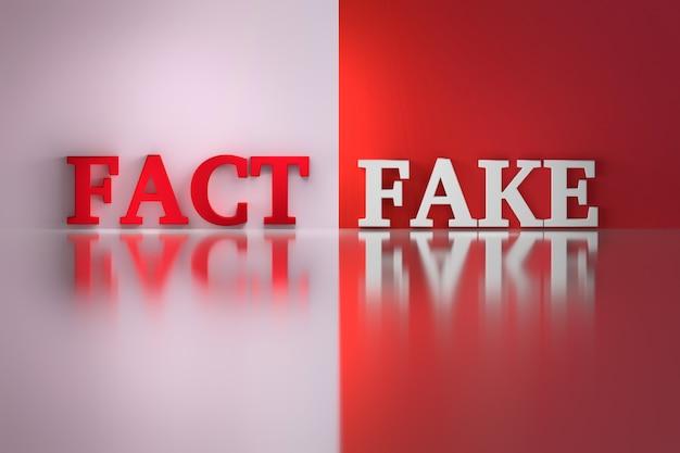 Palabras - hecho y falso