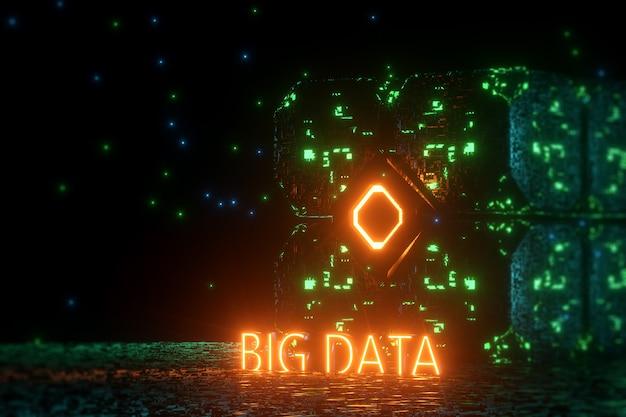 Palabras verdes big data en la nube de almacenamiento