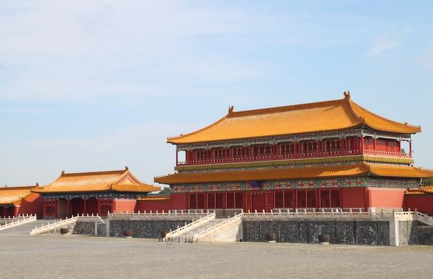Palacio de la ciudad prohibida en beijing, china